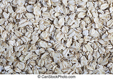 Rolled Oats - Rolled oats food background or texture