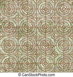 Old relief fresco Seamless pattern