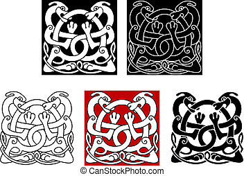 Dogs with celtic ornament