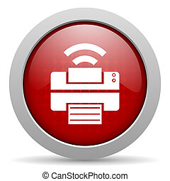 print red circle web glossy icon