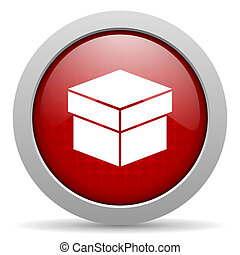 box red circle web glossy icon
