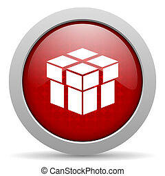 box red circle web glossy icon