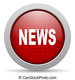news red circle web glossy icon