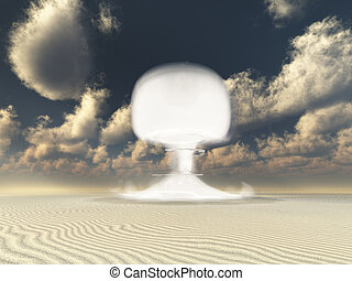 Nuclear detonation in Desert