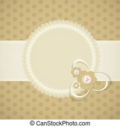 Frame in retro vintage background. Vector illustration.