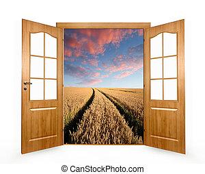 aperto, porta