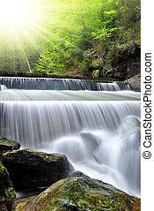 waterfalls - beautiful waterfalls in the Bavarian...
