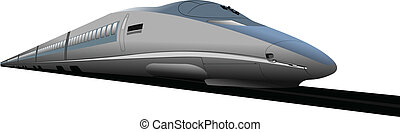 Shinkansen bullet train. Vector ill