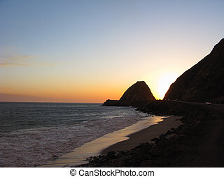 Point Mugu at Night - California Pacific Coast Highway near...