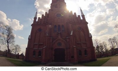 Church Kernave, Lithuania, time-lapse and tilt