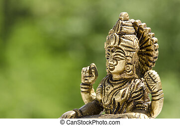 close up of a hindu deity statue