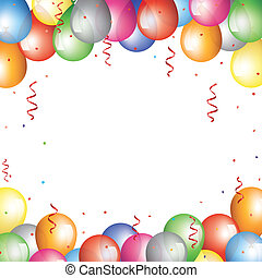baloon border - Holliday backgraund with baloon border
