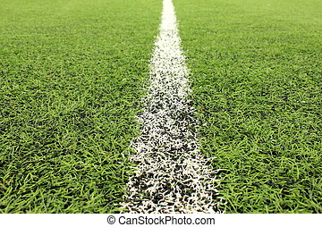 stadium Green artificial lawn field background - the stadium...