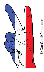 Peace Sign of the French flag - Peace Sign of the French...