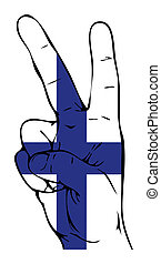 Peace Sign of the Finnish flag