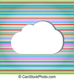Abstract speech bubbles in the shape of clouds used in a social networks