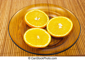 oranges on a plate