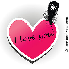I love you. The inscription on the