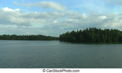 Cruise by the lakes in Finland