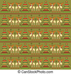 Christmas background with funny elk