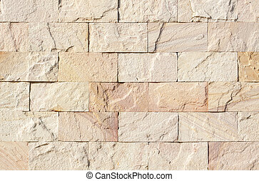 sand stone brick wall for background