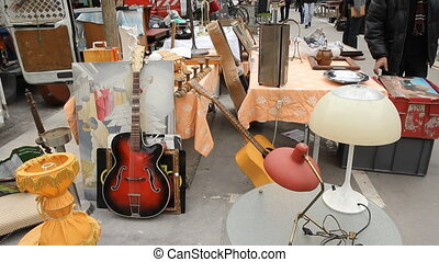 Flea Market at Puces de Vanves. - Flea market in Paris,...