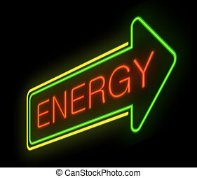 Energy concept - Illustration depicting an illuminated neon...