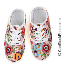women's sneakers with a floral pattern - women's sneakers...