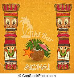 rocznik wina, Hawajczyk, Tiki, bar