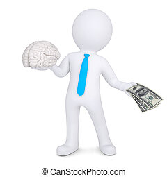 3d man changes the brain for money