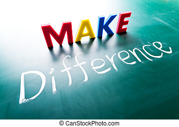 Make difference concept