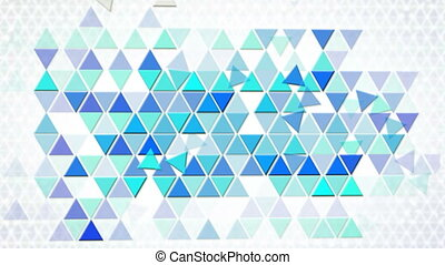 blue triangles geometric background