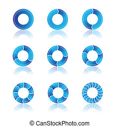 blue diagrams for your presentation