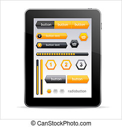 GUI elements for Tablet - Vector GUI elements for Tablet