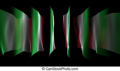 Italian color flags animation, loop - Wonderful italian...