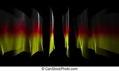 German color flags animation, loop - Wonderful german color...