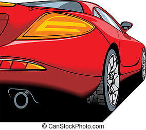red sport car detail my original design - vector