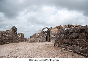 Belvoir castle ruins in Galilee - Tourist attraction...