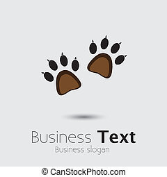 Footprint pair of cats or kittens claws- concept vector...