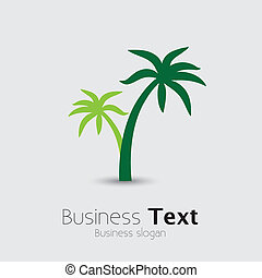 Coconut palm tree icons or symbols of travel- vector graphic...