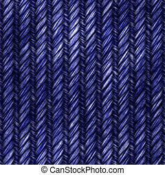 Seamless Denim Jeans - A denim blue jeans texture in a dark...
