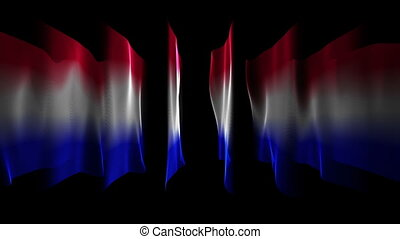Dutch color flags animation, loop - Wonderful dutch color...