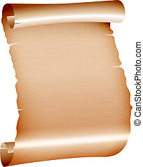 old blank scroll paper on white background vector...