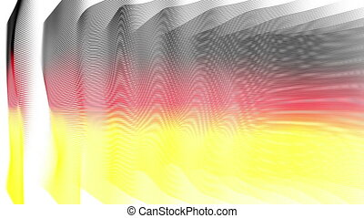German color flags animation, loop - Wonderful german color...