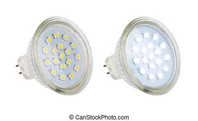 LED lamp isolated on a white