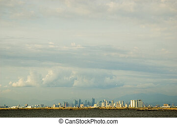 Meto Manila skyline as seen from Kawit, Cavite