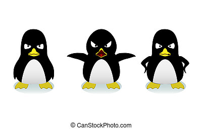 Mad Penguins - Penguins at different stages of anger