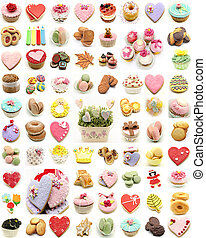 Mural of cookies and cupcakes - Mural of several cookies and...