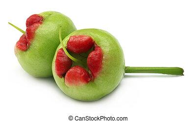 água, maçã