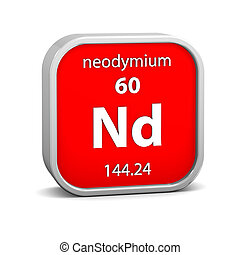 Neodymium material sign - Neodymium material on the periodic...